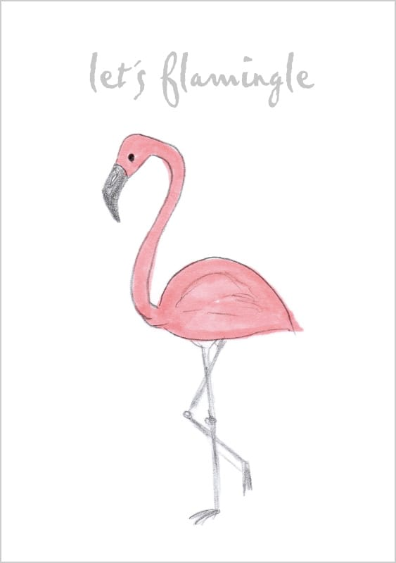 gluecklicher Papeterie - Motiv 038 Flamingle